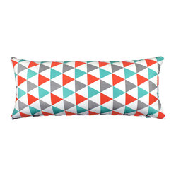 """Becca"" Blue & Red Body Pillow Cover"