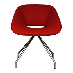 B&T Design - Red Chair, Wellington CUZ13 Red Wool - Red Chair