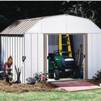 Arrow Sheds - Arrow Lexington 10 x 8-foot Storage Shed - This 10 x 8-foot storage shed features electro galvanized steel for corrosion resistance and easy entry and exit with sliding doors. The shed is easy to assemble with pre-cut and pre-drilled parts.