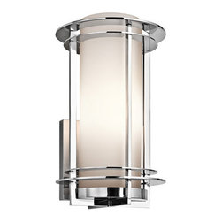 "Kichler - Kichler 49346PSS316 Lifetime Finish Pacific Edge 1 Light 16"" Outdoor Wall Light - Kichler 49346 Pacific Edge Marine Grade Wall Light"