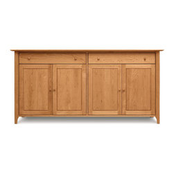 Copeland Furniture - Copeland Furniture Sarah 2 Drawer Over 4 Door Buffet 6-SAR-60-03 - The Sarah Dining Room exhibits the clean lines and balanced proportions of its Shaker influence. All pieces are made of solid cherry hardwood.