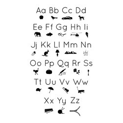 Dana Decals - Icon Alphabet Wall Decal - Ideal for homes, kids rooms, and schools.