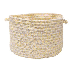 "Colonial Mills, Inc. - Catalina, Sun Utility Basket, 18""x18""x12"" - Got laundry? Knitting supplies? Loose magazines? This sunshine-yellow braided storage basket will keep it all out of sight and within easy reach, and look casually chic doing it. Keeping house in style never looked so easy."