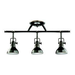 Kichler Arts and Crafts Rail Light Bar - 3 Heads - Kichler QualitySince 1938 Cleveland-based Kichler Lighting has been known for their innovative designs and excellent craftsmanship. Kichler is the world's leading decorative lighting fixture company and the winner of four ARTS Lighting Manufacturer of the Year awards. Kichler designers travel the world to discover the latest trends in exterior and interior style colors and designs. They then translate the best of those trends into fixtures that will bring beauty pleasure and light into your home. Kichler fixtures stand the test of time and are functional works of art that you're sure to treasure.