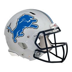 Brewster Home Fashions - NFL Detroit Lions Teammate Helmet 3pc Wall Sticker Decal Set - FEATURES: