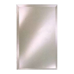 """Afina - Afina RM-624 Radiance Rectangular Frameless 1-inch Bevel Wall Mirror - When seeking a clean contemporary look, Radiance Wall Mirrors Shine! All with full Bevel Mirrors, and a wide range of sizes to fit your needs. Radiance mirrors are easily cleaned and come with a one year warranty. Features: -Radiance collection. -Rectangular wall mirror. -Four size options. -Bevel mirror. -All Radiance mirrors come with 0.5"""" thick wood strip with eyelet hooks mounted on back of mirror. -Can be hung vertical or horizontal. -Care: Clean with mild soap and water. -One year warranty. -Overall Dimensions for Size option 1: 16"""" H x 26"""" W. -Overall Dimensions for Size option 2: 20"""" H x 26"""" W. -Overall Dimensions for Size option 3: 24"""" H x 30"""" W. -Overall Dimensions for Size option 4: 24"""" H x 36"""" W."""