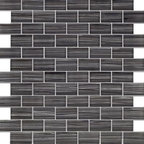Zephyr Charcoal Grey Glossy Bricks Pattern Glass Mosaic Tiles, Sheet - 1 in. x 2 in. Zephyr Charcoal Grey Mesh-Mounted Bricks Pattern Glass Mosaic Tile is a great way to enhance your decor with a traditional aesthetic touch. This Glossy Mosaic Tile is constructed from durable, impervious Glass material, comes in a smooth, unglazed finish and is suitable for installation on floors, walls and countertops in commercial and residential spaces such as bathrooms and kitchens.
