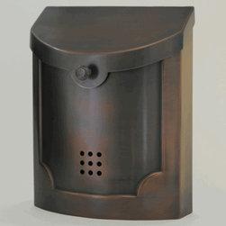 E4AC Wall Mounted Antique Copper Modern Mailbox -