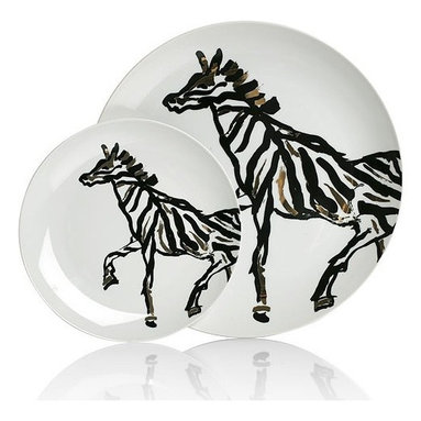 Ceramic Zebra Serving Dish -