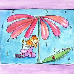 Oh How Cute Kids by Serena Bowman - April Showers, Ready To Hang Canvas Kid's Wall Decor, 11 X 14 - Part of my Fairy Nursery Rhymes series. I have several in the series for boy and girls!  Each are sold separately but coordinates with everything in the series for an easy fun room decor!