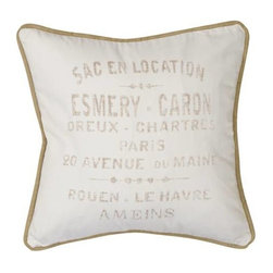 Homeware Decorative Accent Pillows - 20x20 French Crest Square Pillow
