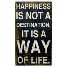 Bloomingville Happiness is Not a Destination Sign | ACHICA