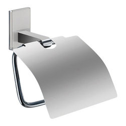 Gedy - Chromed Brass Covered Toilet Roll Holder With White Mounting - Decorative toilet paper holder with cover made of brass in a chrome finish. Mounting made of thermoplastic resins in a white color. Toilet roll holder with cover made of chromed brass and thermoplastic resins. Mounting in white finish. From the Gedy Maine collection.