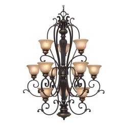 Golden Lighting - EB 363 Tuscan Twelve Light ChandelierJefferson Collection - Golden Lighting specializes in the design and manufacture of high quality residential lighting products and accessories.