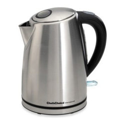 Chef's Choice - Chef'sChoice International Electric 1 3/4-Quart Kettle - The advanced design of this electric kettle features a concealed heating element that is never in contact with the water so theres no build-up of objectionable mineral deposits on it.