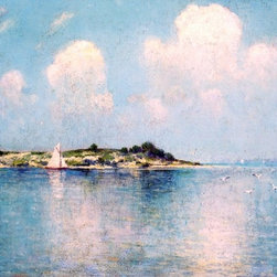 """Julian Onderdonk On Long Island Sound near Shelter Island   Print - 18"""" x 24"""" Julian Onderdonk On Long Island Sound near Shelter Island premium archival print reproduced to meet museum quality standards. Our museum quality archival prints are produced using high-precision print technology for a more accurate reproduction printed on high quality, heavyweight matte presentation paper with fade-resistant, archival inks. Our progressive business model allows us to offer works of art to you at the best wholesale pricing, significantly less than art gallery prices, affordable to all. This line of artwork is produced with extra white border space (if you choose to have it framed, for your framer to work with to frame properly or utilize a larger mat and/or frame).  We present a comprehensive collection of exceptional art reproductions byJulian Onderdonk."""