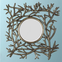Twig Frame Mirror - I don't have a mirror in my entryway, which means that I inevitably have to resort to the teeny mirror in the car visor — which is not ideal when I then realize that I need to fix my hair or makeup and that my supplies are back in the house. Hang a small mirror by the door so that you can do the all-important last-minute check. Never leave the house with food in your teeth again!