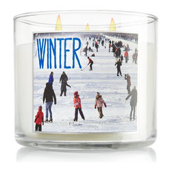 Winter 3-Wick Candle - This candle smells like clean, fresh, crisp air.