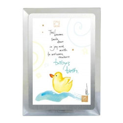 Westland - Newborn Baby's Birth Musical Frame with Duck and Silver Colored Edges - This gorgeous Newborn Baby's Birth Musical Frame with Duck and Silver Colored Edges has the finest details and highest quality you will find anywhere! Newborn Baby's Birth Musical Frame with Duck and Silver Colored Edges is truly remarkable.