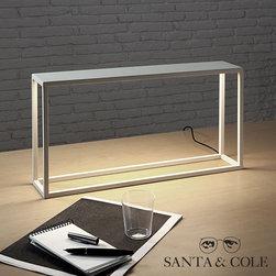 Santa & Cole BlancoWhite M1 Lighted Table - Santa & Cole BlancoWhite M1 Lighted Table