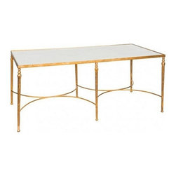 Elegant Marble Coffee Table - Coming soon to Charlotte & Ivy!  Call us for more information.