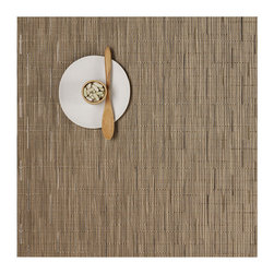 Chilewich - Chilewich - Bamboo Square Placemat, Set of 4 - Bamboo combines modern practicality with a serene Asian sensibility. This subtle design has a natural feel that will complement and enhance a wide range of tableware, from traditional to contemporary. All Chilewich products, including round placemats and entertaining decor, are durable and easy to clean. Indoor/outdoor use. Made in USA.