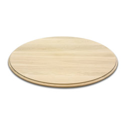 Classic Designs VT - Round Wood Table Tops, Hard Maple - Round wood table top made from solid hard maple. Quirk Bead edging. 44 inch diameter and 1 inch thickness. Fine sanded and ready for your finish to be applied. Handcrafted, made to order in Vermont. Free shipping to the lower 48 states. Pictured table top is in soft maple wood.