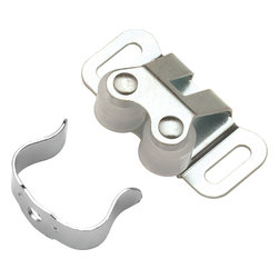 Hickory Hardware - Hickory Hardware 1-5/16 In. Cadmium Double Roller Catch - Functionalism is the principal that design is based on the purpose of that piece.  Hinges, hooks, catches, drawer slides and screws.  All designed for a specific purpose and necessary in every home.