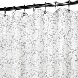Watershed - Watershed Victorian Lace Shower Curtain - VLAC40-WHS - Shop for Shower Curtains from Hayneedle.com! A graceful Victorian lace design in two color options makes the Park B Smith Victorian Lace Shower Curtain a beautiful way to upgrade the style of your bath. It's made of quick-dry polyester fabric that is machine-washable requires no liner and resists allergies and mold. Grommets at the top make it easy to hang and weights at the bottom keep it in place.