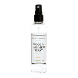 Wool and Cashmere Spray - 4 oz - Naturally repelling insects from the fabrics they like best while keeping your seasonal closet fresh and clean in case of unexpected weather, Wool and Cashmere Spray gives a crisp, lovely scent to your cozy autumn blankets and sultry winter skirts.  This delightful and useful spray freshens your yarns and cleanses away musty, stale odors with its beautiful aroma and non-toxic antibacterial effects.