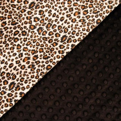 Feel my Pillows - Neck Pillow Cover - Design: Cheetah with Black Polka Dots. Size: 13x13 inches. Insert not included.