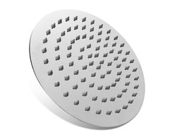 Boann - BOANN  8-Inch Ultra Thin Stainless Steel Round Rainfall Shower Head - Solid Stainless Steel Construction with Mirror Finish