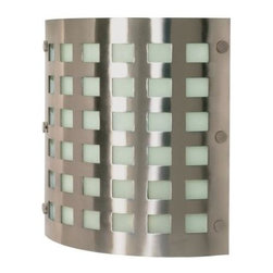Nuvo - Contemporary - 2 Light CFL - 12 in. Wall Fixture - Frosted Shade. UL Damp Rated. Fluorescent . ENERGY STAR Rated. Energy Saver. Color/Finish: Brushed Nickel. Max wattage: 18w. Bulb(s) included. 3 in. L x 12 in. W x 12.5 in. H