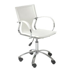 Euro Style - Euro Style Vinnie Office Chair X-THW01271 - It's too perfect to call 'basic'. But the clean, simple lines and smooth leather seat, back and armrests say a lot about your office. Straightforward. No nonsense. And undeniably fashion forward.