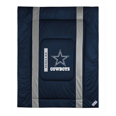 Sports Coverage - NFL Dallas Cowboys Twin Comforter Sidelines Football Bed - Features: