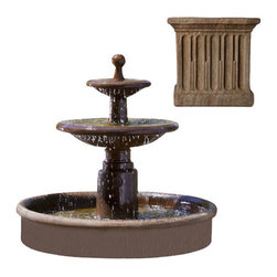 Campania International - Esplanade Two Tier Fountain - Aged Limestone (AL) - 635 lbs. Shipping is available throughout the continental United States. As these fountains are made to order,_please allow 4 to 6 weeks for delivery. Drop ship is curbside delivery only.