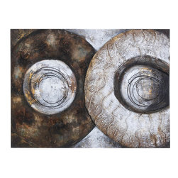 Benzara - Canvas Art 40in.W, 30in.H Wall Decor - Size: 30 High x 2 Depth x 40 Wide (Inches)