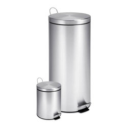 30L And 3L Stainless Steel Step Can Combo - 30l- 11.42ind x 24.8inh
