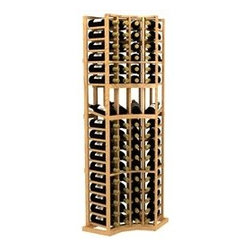 6' Four-Column Curved Corner Display Wood Wine Rack - The 6' Four-Column Curved Corner Display Wood Wine Rack is part of our 6' Series.