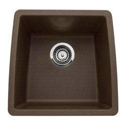 Blanco 440078 Performa Silgranit Single Bowl Undermount Kitchen Sink In Cafe Bro -