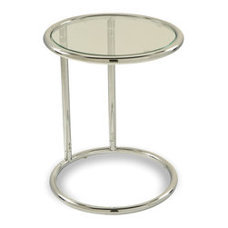 Office Star - Office Star Avenue Six Yield Glass Circle Table in Chrome/Glass - Yield Glass Circle Table in Chrome/Glass Table (1)