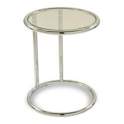 Office Star - Office Star Avenue Six Yield Glass Circle Table in Chrome / Glass - Yield Glass Circle Table in Chrome/Glass