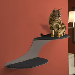 The Refined Feline - Refined Feline Cat Cloud Cat Shelf - Titanium - CLOUD-TI-R - Shop for Towers and Houses and Accessories from Hayneedle.com! Your cat can take to the skies in the comfort of your living room with a Cat Cloud Shelf - Titanium. This durable and functional cat shelf is constructed from strong powder-coated steel. Each shelf is padded and covered in an attractive and replaceable faux sheepskin fabric. This set comes with two shelves that can support up to 70 lbs.About The Refined FelineFounded in Englewood New Jersey The Refined Feline began with only a cat and his owner. Addressing specific problems with the current market The Refined Feline set out to create products that provided quality toys and beds that cats would enjoy and owners wouldn't mind displaying in their homes. The result was an innovative inventory that was all at once attractive affordable durable and enjoyable for cats and owners alike.
