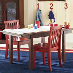 Carolina Expandable Craft Table - Give your child the ability to create, snack, and pretend in their own space while offering your home needed flexibility. This expandable table adds length for a larger project, and retracts when not in use.