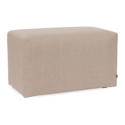 Howard Elliott - Prairie Linen Natural Universal Bench Cover - The Universal Bench in Prairie Linen is a great addition to any room. Velcro fasteners and tailored design make it so you would never know this piece is slipcovered. Cleaning and updating is a breeze, change your look on a whim with new covers!