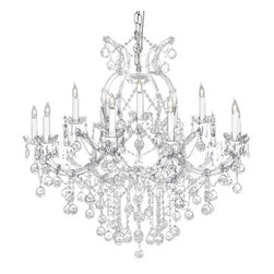 The Gallery - Crystal chandelier with Crystalalls - A83-Silver/Balls/21510/15+1.