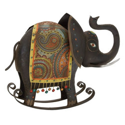 "Benzara - Beautiful Well Designed Metal Rocking Elephant - Check out this classy styled metal rocking elephant that will be a great addition to your room space. Made of quality metal this elephant is durable and easy to maintain. The elephant is polished is black color palette with designs on it. Beautiful smooth texture of this elephant adds to its creativity. You can nail this metal rocking elephant to bare walls else place it in any corners of your room space. The elephant is artistic styled that blends with all kinds of interiors.Guests paying a visit over your place will be surprised to check out this wonderful metal rocking elephant. They'll be enticed to add one to their interiors. Besides, this metal rocking elephant can also be gifted to your near and dear ones. Gets this metal rocking elephant right away. Metal Rocking Elephant measures 17 inches (Width) x 7 inches (D) x 14 inches (H); Made of quality wood; Well designed; Dimensions: 43""L x 2""W x 25""H"