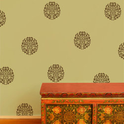 Orient Express Stencil - Orient Express Stencil from Royal Design Studio for walls, furniture, ceiling, floor, and fabric.