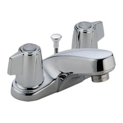 Delta - Delta 2520LF Classic Two Handle Centerset Lavatory Faucet (Chrome) - Delta 2520LF Classic Collection is designed to complement any homes design style  with simple and sensible style. The Delta 2520LF is a two handle Lavatory Faucet in Chrome.