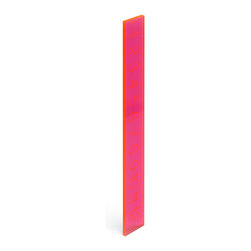 Poppin - Neon Ruler, Neon Pink - If eye-popping color and sleek design are any measure of success, then this ruler moves to the head of the class. It features bold lines and easy-to-read numbers, and with 13 inches of acrylic and a choice of several colors, there are at plenty of reasons to get in line.